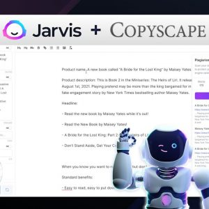 Jarvis.ai + Copyscape = 100% Plagiarism Free Content Written by AI