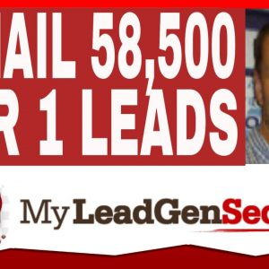 MY LEAD GEN SECRET Review 2021 - PROOF - Email 58,500 TIER 1 LEADS in 1 MINUTE!!!