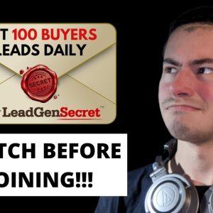 My Lead Gen Secret Review & Tutorial 2021 - WATCH BEFORE JOINING!