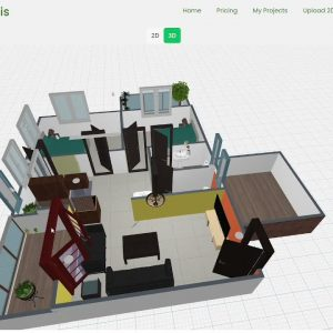 Fastest 2D floor plan to 3D floor plan and tour conversion. AI recognition and rendering