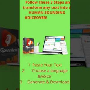Speechelo Turn Text To Voice With AI Engine #shorts